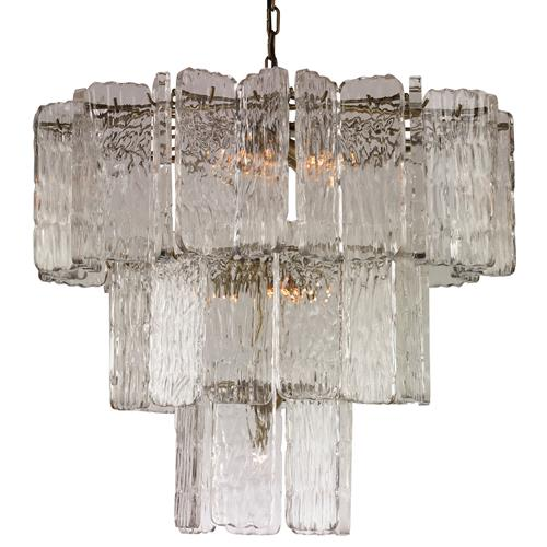 Mr. Brown Aberdeen Modern Classic Lucite Glass Pane Chandelier | Kathy Kuo Home