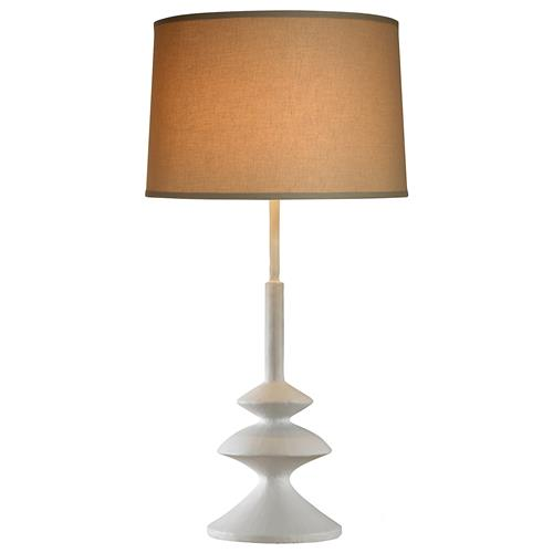Mr. Brown Almeria Modern White Gesso Artisan Table Lamp | Kathy Kuo Home