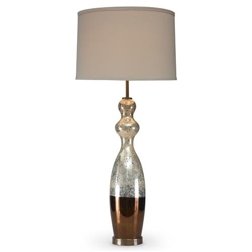 Mr. Brown Appley Modern Classic Slender Two Tone Gold Table Lamp | Kathy Kuo Home