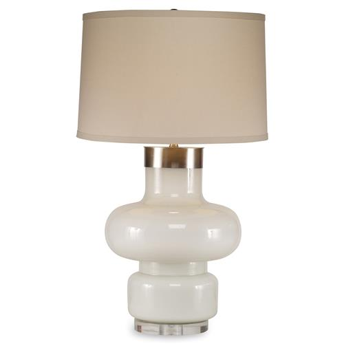 Mr. Brown Daphne Modern Classic White Opal Table Lamp | Kathy Kuo Home