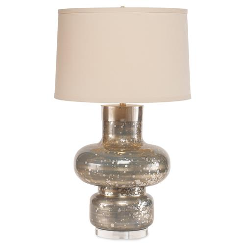 Mr. Brown Daphne Modern Classic Silver Spot Blue Table Lamp | Kathy Kuo Home