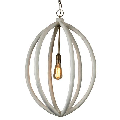 Mr. Brown Chandelier Modern Classic White Pod Pendant | Kathy Kuo Home