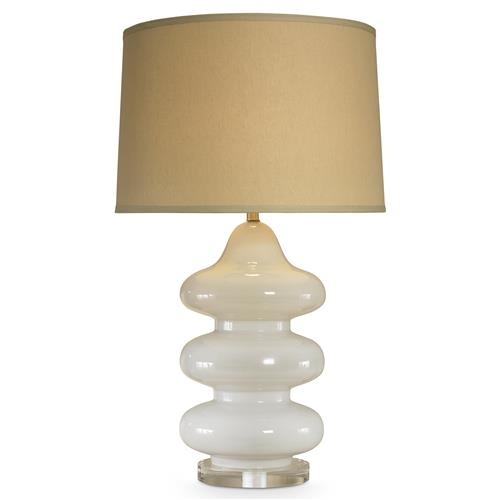 Mr. Brown Pagoda Hollywood White Opal Bubble Table Lamp | Kathy Kuo Home