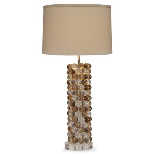 Mr. Brown Sandrine Coastal Beach Lucite Amber Bubble Column Table Lamp | Kathy Kuo Home