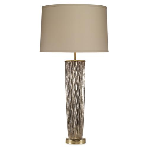 Mr. Brown Stark Coastal Modern Silver Blue Waves Gold Table Lamp | Kathy Kuo Home