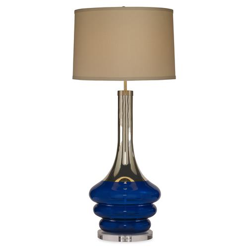 Mr. Brown Tamarind Modern Royal Blue Silver Lucite Table Lamp | Kathy Kuo Home