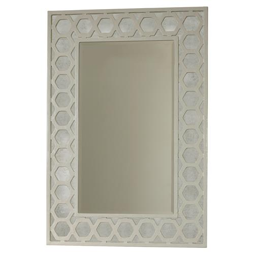 Mr. Brown Angeline Modern Classic Hexagon White Panel Mirror | Kathy Kuo Home