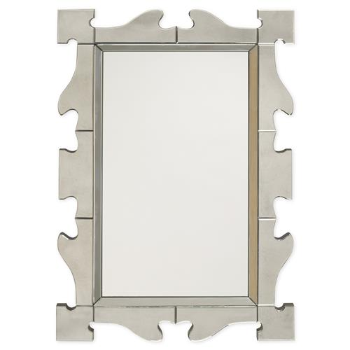 Mr. Brown Gaudi Bazaar Antiqued Frame Mirror | Kathy Kuo Home
