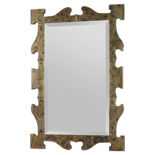 Mr. Brown Gaudi Bazaar Antique Gold Mirror | Kathy Kuo Home