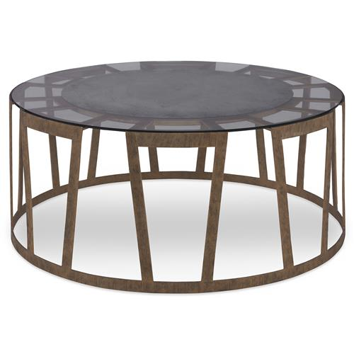 Mr. Brown Vernet Modern Classic Flat Gold Round Coffee Table | Kathy Kuo Home