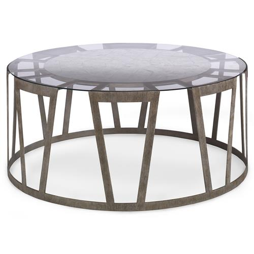 Mr. Brown Vernet Modern Classic Flat Silver Rectangle Coffee Table | Kathy Kuo Home
