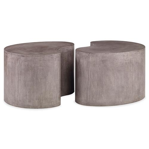 Mr. Brown Figaro Industrial Modern Stone Outdoor Coffee Table | Kathy Kuo Home