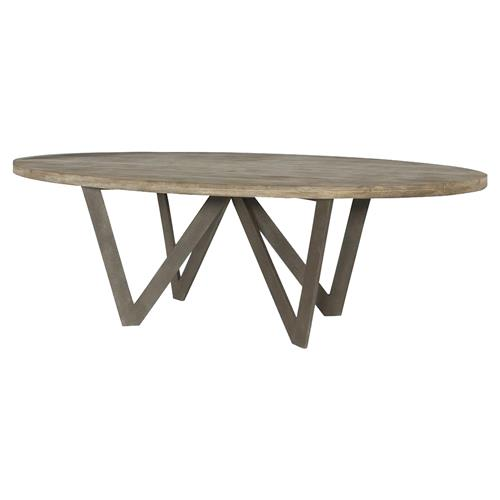 Rustic Teak Oval Outdoor Dining Table 10 Ft Kathy Kuo Home