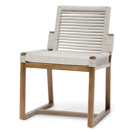 Palecek San Martin Coastal Beach Natural Sand Rope Wrapped Outdoor Side Chair | Kathy Kuo Home
