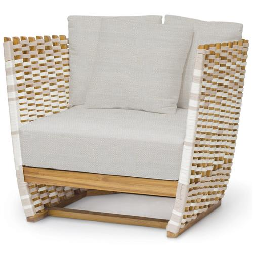 Palecek San Martin Modern Classic Rope Wrapped Outdoor Lounge Chair | Kathy Kuo Home