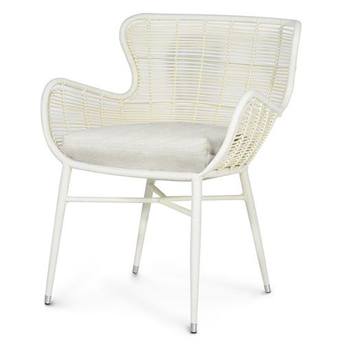 Palecek Palermo Modern Classic Cream Outdoor Chair - Natural Sand | Kathy Kuo Home