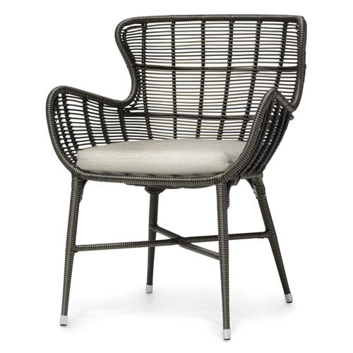 Palecek Palermo Modern Classic Espresso Outdoor Chair - Natural Salt | Kathy Kuo Home