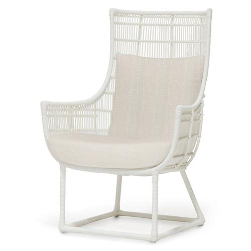 Palecek Verona Modern Classic Faux Wicker Outdoor Lounge Chair - Natural Sand | Kathy Kuo Home