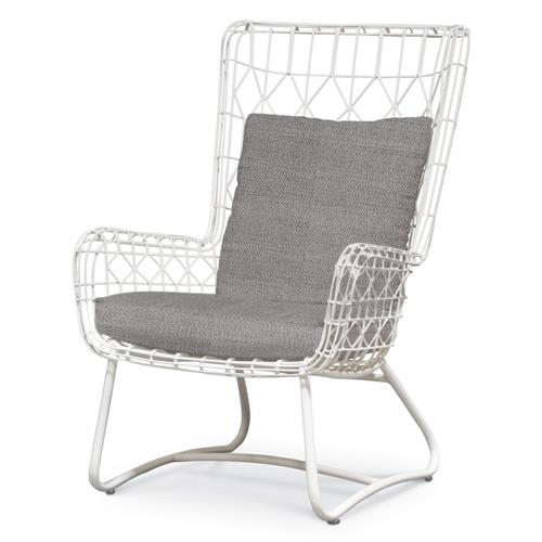 Chloe Modern Classic Grey Sand White Steel Outdoor Wing