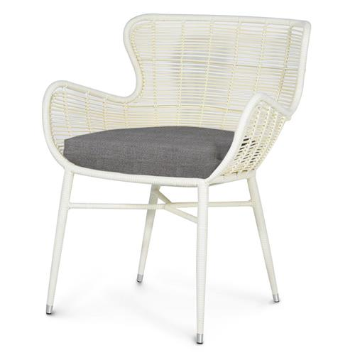 Palecek Palermo Modern Classic Cream Outdoor Chair - Grey Sand | Kathy Kuo Home