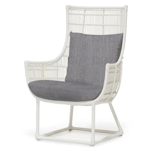 Palecek Verona Modern Classic Faux Wicker Outdoor Lounge Chair - Grey Sand | Kathy Kuo Home