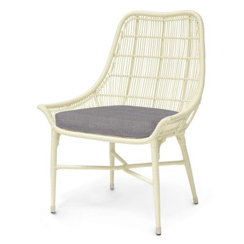 Palecek Lucca Modern Classic Cream Outdoor Chair - Grey Sand | Kathy Kuo Home