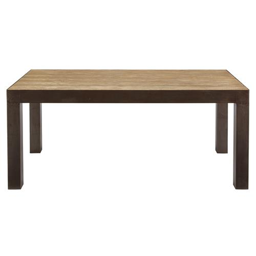 Charlotta Rustic Industrial Oak Steel Parson Dining Table  : product13919 from www.kathykuohome.com size 500 x 500 jpeg 11kB