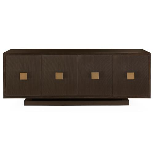 Cambri Modern Rustic Ebony Walnut Beaded Buffet | Kathy Kuo Home