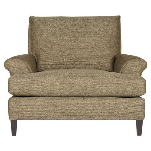 Pascale Modern Classic Overstuffed Tweed Brown Armchair | Kathy Kuo Home
