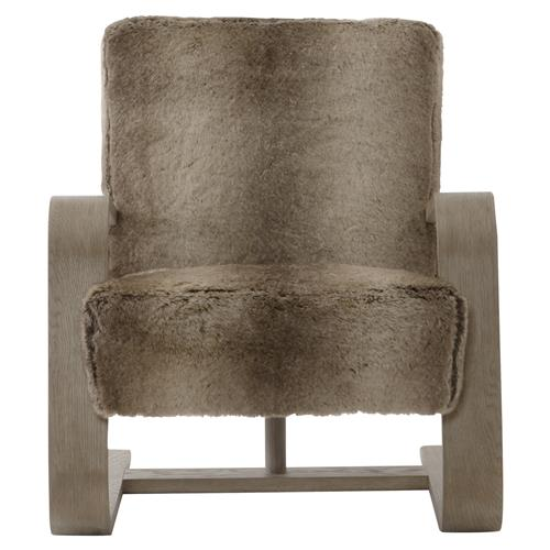 Maiara Rustic Lodge Modern Brown Fur Arm Chair | Kathy Kuo Home