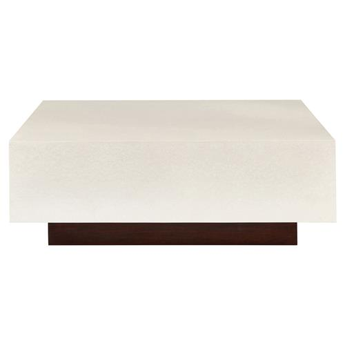Laina Modern Hollywood Crushed Pearl Walnut Coffee Table | Kathy Kuo Home