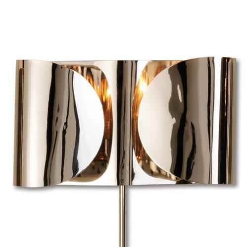 Gabriela Hollywood Regency Nickel Folded Sconce | Kathy Kuo Home