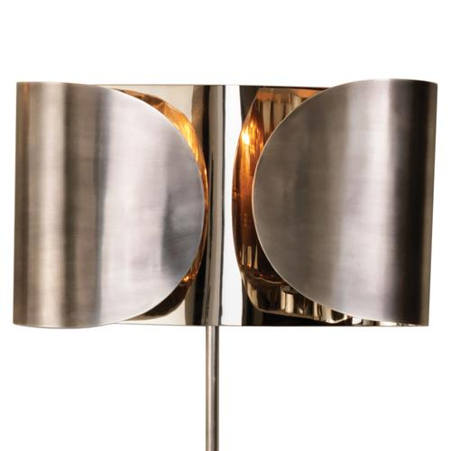 Gabriela Hollywood Regency Antique Silver Nickel Folded Sconce | Kathy Kuo Home