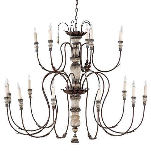Deonte French Country Delicate Arm Rustic Chandelier | Kathy Kuo Home