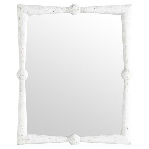 Manoela Coastal Modern Rustic White Wall Mirror | Kathy Kuo Home