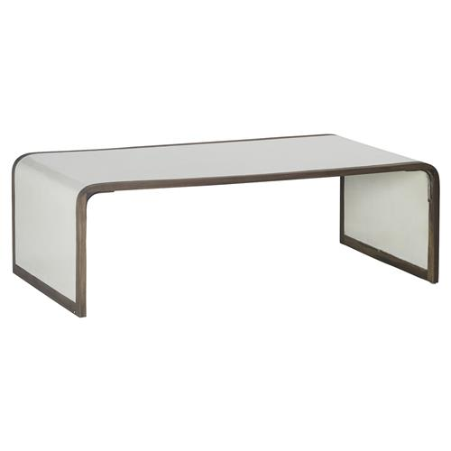 Mattie modern coastal seagrass waterfall coffee table for Seagrass coffee table