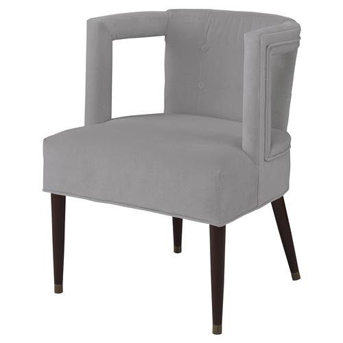 Barnaby Modern Window Arm Chair - Cannon Grey Velvet | Kathy Kuo Home