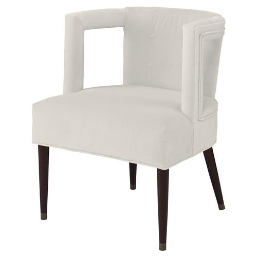 Barnaby Modern Window Arm Chair - Snow White Velvet | Kathy Kuo Home