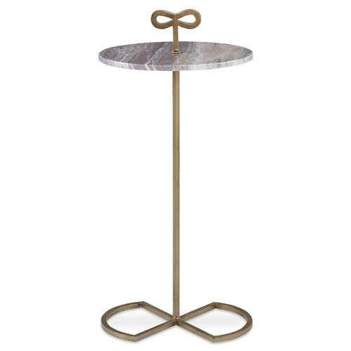 Mr. Brown Classico Modern Classic Bow Tie Gold Granite End Table | Kathy Kuo Home