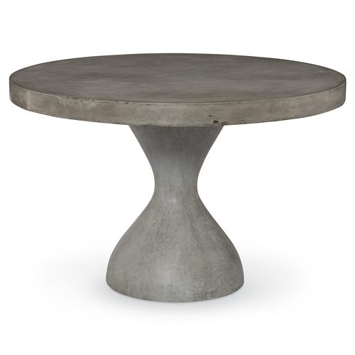 Mr. Brown Parrot Industrial Slate Concrete Outdoor Dining Table - 48D | Kathy Kuo Home