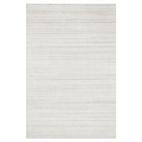 Efra Modern Classic Ivory Stria Wool Rug - 3'6x5'6 | Kathy Kuo Home