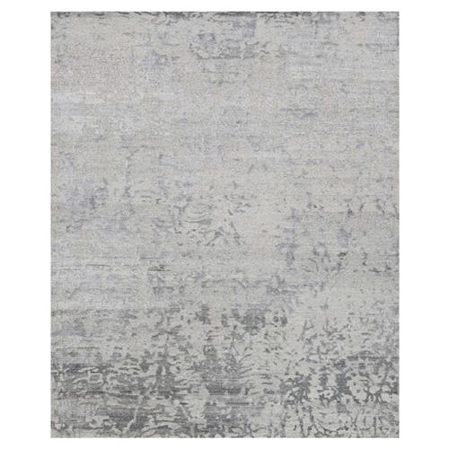 Olvin Hollywood Antique Grey Distressed Pattern Rug - 5'6x8'6 | Kathy Kuo Home