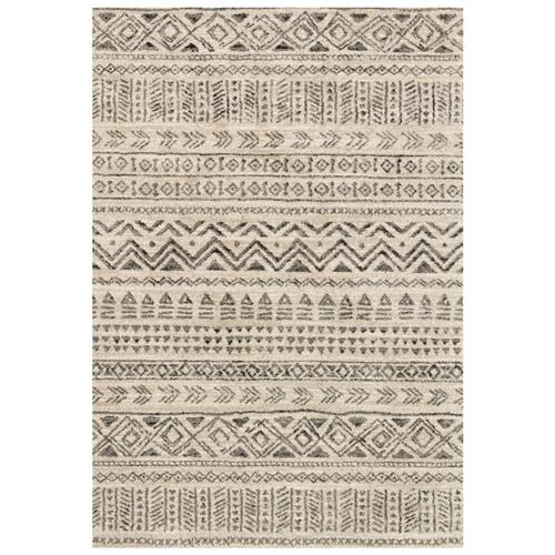 "Siti Global Bazaar Stone Grey Cave Drawn Patterned Rug - 3'10""x5'7"" 