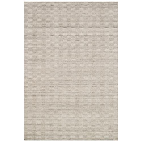 "Fowler Modern Classic Oat Grey Pile Loop Wool Solid Rug -3'6""x5'6"" 