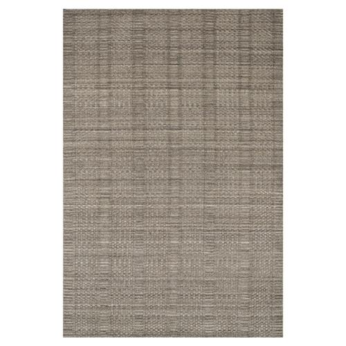 "Harpa Modern Classic Stone Grey Pattern Pile Wool Solid Rug -3'6""x5'6"" 