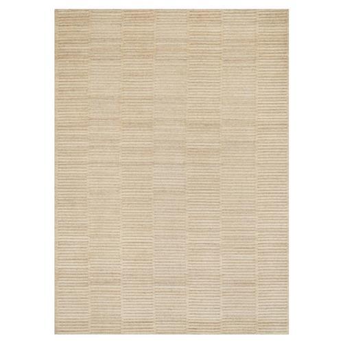 Modern Nature Rug: Asmina Modern Natural Beige Dash Pile Wool Rug
