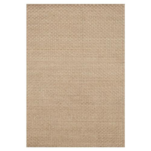 "Dottie Modern Beige Sand Wool Dot Raised Pile Solid Rug - 3'6""x5'6""  