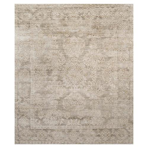Fabian French Antique Wash Taupe Bamboo Silk Rug - 4' x 6' | Kathy Kuo Home