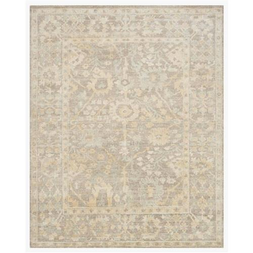 Fatime French Antique Wash Dune Grey Bamboo Silk Rug - 4' x 6' | Kathy Kuo Home