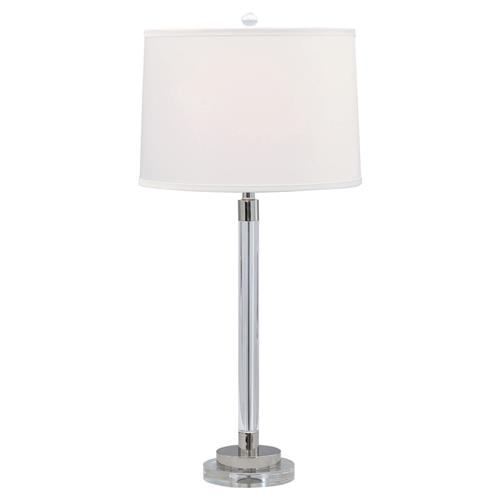 Elizabeth Modern Classic Polished Silver Crystal Table Lamp | Kathy Kuo Home